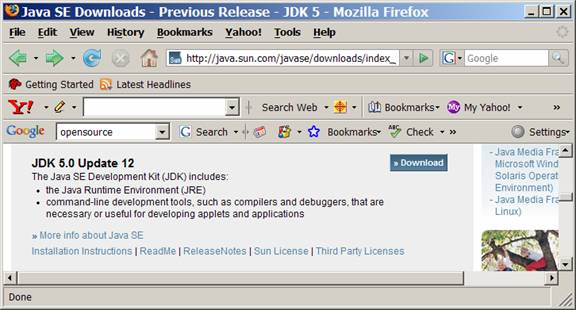 Supported System Configurations for J2SE and Java for Business